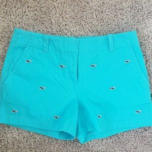 New Women's Blue Vineyard Vines Shorts 6 turquoise